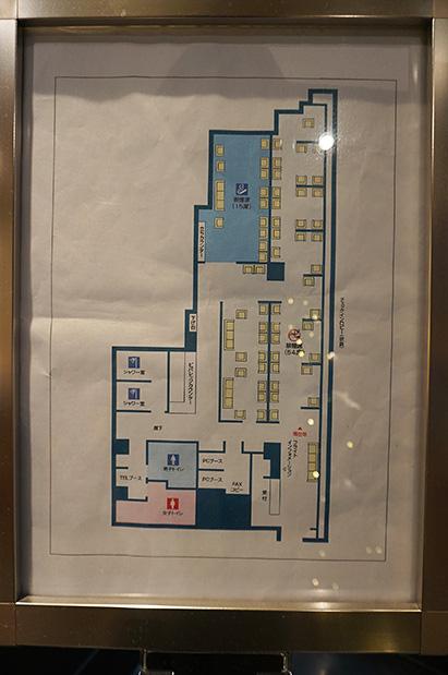 羽田空港国内線第2旅客ターミナル「エアポートラウンジ(北)」全体図写真